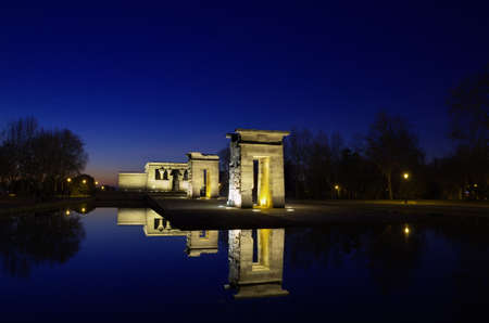 Temple of Debod  Egyptian temple in Madrid  Famous Landmark photo
