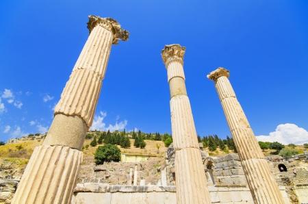 Ancient ruins in Ephesus Turkey  photo