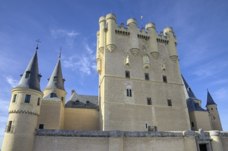 Segovia Alcazar Castle. Ancient Royal palace in Segovia Spain.