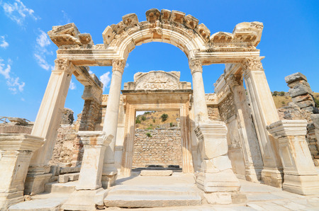 hadrian: Wonderful Hadrian Temple. In the ancient city of Ephesus, Turkey.