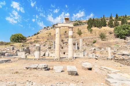 greco roman  roman: Ancient ruins in Ephesus Turkey