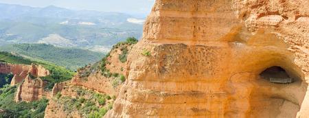Las Medulas, ancient roman mines in Leon, Spain. photo