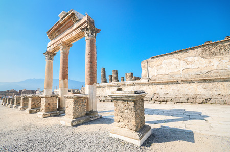 Ancient ruins of Pompeii, Italy Фото со стока