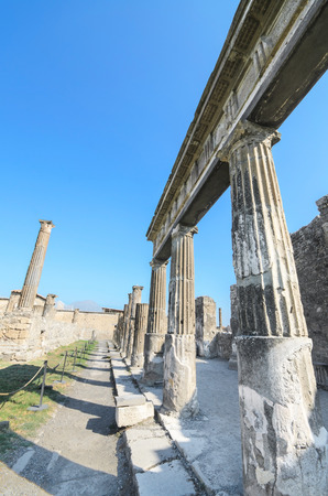 Ancient ruins of Pompeii, Italy photo