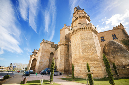 stone of destiny: Scenic view of the famous Olite castle, Navarra, Spain. Editorial