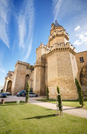 navarra: Scenic view of the famous Olite castle, Navarra, Spain. Editorial