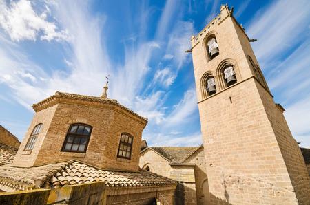 navarra: Detail of the famous Olite Castle in Navarra, Spain. Editorial