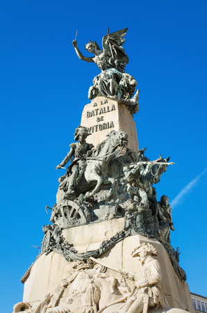 vitoria: Detail of the Vitoria Battle monument, Vitoria, Spain.
