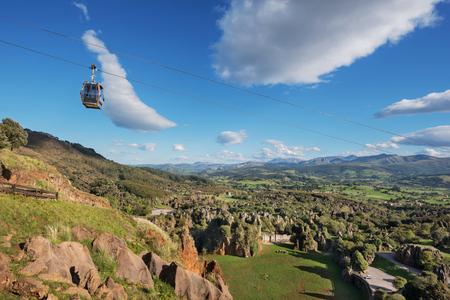 landscape of Cabarceno natural park in Cantabria, Spain. 免版税图像