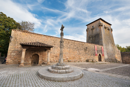 COVARRUBIAS, SPAIN - OCTOBER 11: Tower and ancient fortress on October 11,2016 in the ancient medieval village of Covarrubias, Burgos, Spain. Editorial