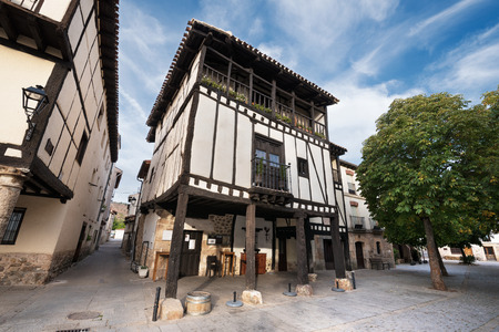 stone of destiny: Ancient medieval buildings in the ancient city of Covarrubias, Burgos, Spain