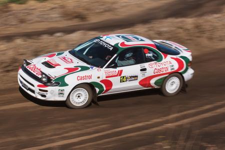 LA PALMA, SPAIN - SEPTEMBER 10: Toyota Celica during rally show Villa de Mazo on September 10, 2016 in La Palma, Canary island, Spain. Editorial