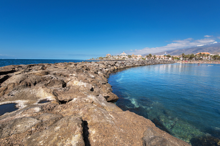 americas: Las Americas coastline  in Adeje, Tenerife, Spain.  Las Americas is one of the most popular and touristic resorts, in Tenerife South area. Stock Photo