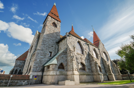 Famous landmark Tampere Cathedral, Finland.