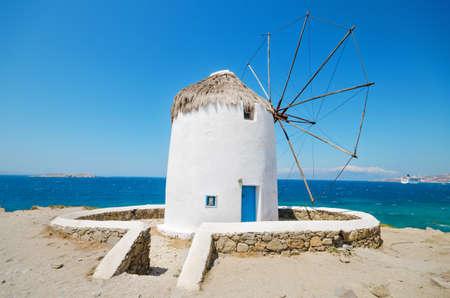 greek islands: Famous Mykonos Windmill - Greek islands