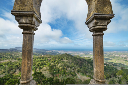 pena: Viewpoint in Castle da Pena in Sintra, Portugal. Editorial