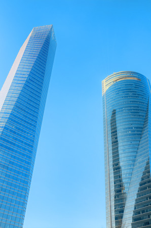 MADRID, SPAIN-4 MAY: Cuatro torres financial center in Madrid on 4 May, 2013. These buildings are the highest skyscrapers in Spain with a height of 250 meters.
