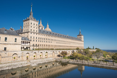 Royal monastery of San Lorenzo de El Escorial, Madrid, Spain. Zdjęcie Seryjne