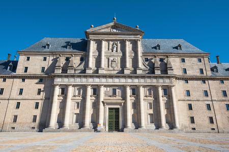 lorenzo: Royal monastery of San Lorenzo de El Escorial, Madrid, Spain. Stock Photo