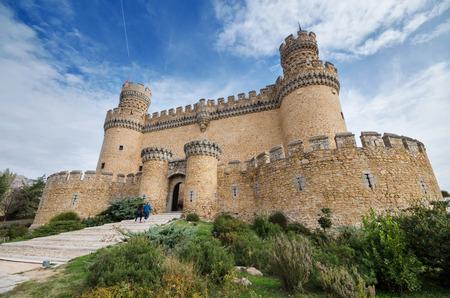 Manzanares el Real castle Фото со стока
