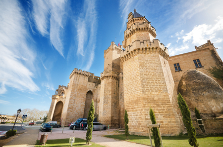 OLITE, SPAIN - APRIL 2 : Scenic view of the famous Olite castle, Navarra, Spain, on april 2, 2015. Editorial