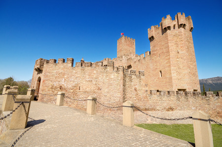 Scenic view of the famous Javier Castle in Navarra, Spain. Stock Photo