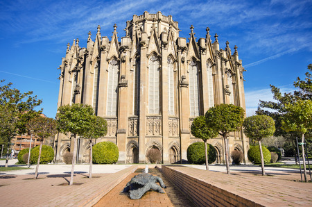basque country: New cathedral, famous touristic landmark in Vitoria, Spain.