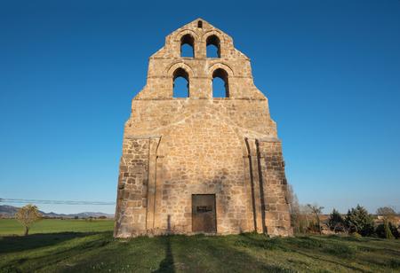 Ancient romanic style hermitage in Burgos province, Castilla y León, Spain. Editorial