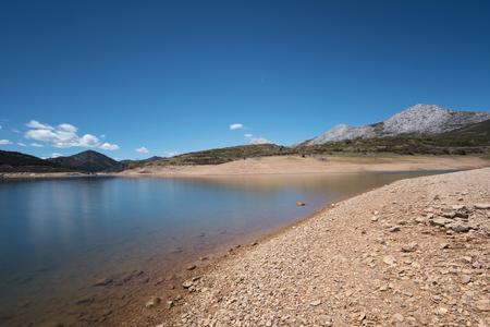Day long exposure of Lake camporredondo in Palencia, Castilla y León, Spain.