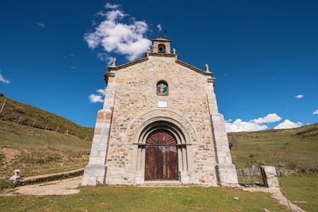 Hermitage in Palencia mountains, Castilla y Leon, Spain. Stock Photo