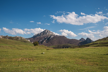 Natural landscape in Palencia mountains, Castilla y Leon, Spain. Stock Photo