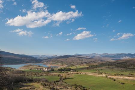 landscape of lake in Palencia, Castilla y León, Spain.
