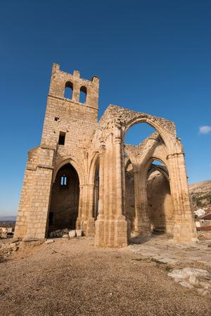 Ruins of abandoned church Santa Eulalia in Palenzuela, Palencia province, Spain.