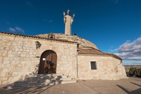 The Otero christ in Palencia, Castilla Leon, Spain. Stock Photo