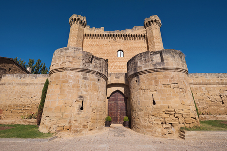 Medieval castle in Sajazarra, La Rioja, Spain.