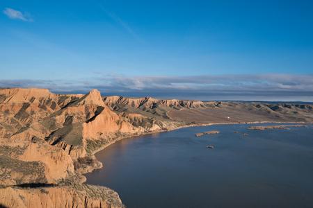 Barrancas de Burujon. Eroded landscape in ntarural park in Toledo, Castilla la Mancha, Spain.
