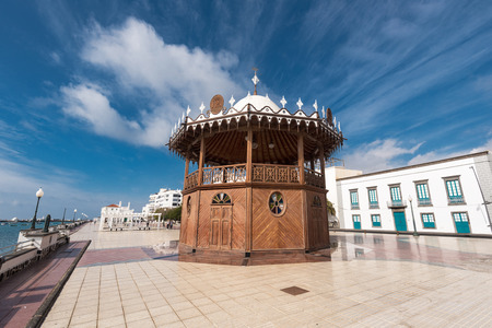 Arrecife cityscape, bandstand and promenade in Lanzarote, Canary islands, Spain. Stock Photo