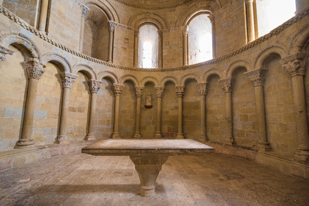 Zaragoza, Spain - October 7, 2017: Interior of Loarre Castle in Aragon, Spain. Sajtókép
