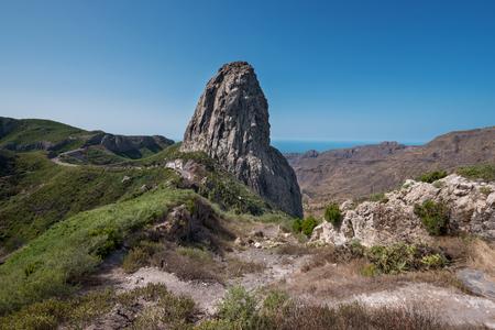 Roque Agando in La Gomera island, Canary islands, Spain.