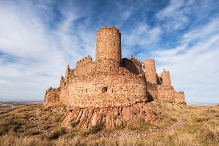 Ruins of Almonacid castle in Toledo, Spain.