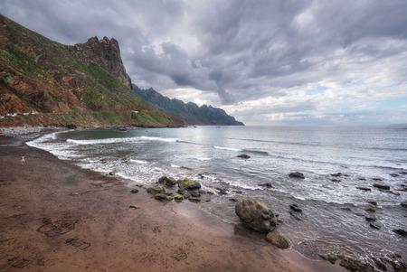 Dramatic coastline landscape in Taganana beach, north Tenerife island, Canary islands, Spain.