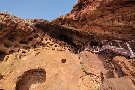 Cenobio de Valeron, archeological site, aboriginal caves in Grand Canary, Canary islands.