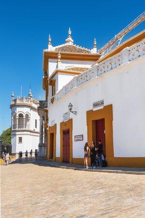 Seville Real Maestranza bullring plaza toros de Sevilla in andalusia Spain . Standard-Bild