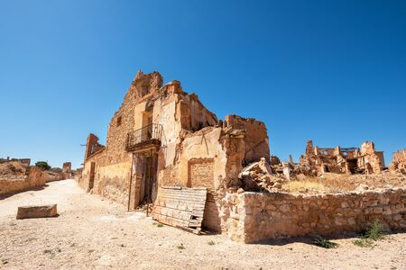 Ruins of Belchite, Spain, town in Aragon that was completely destroyed during the Spanish civil war. Banco de Imagens