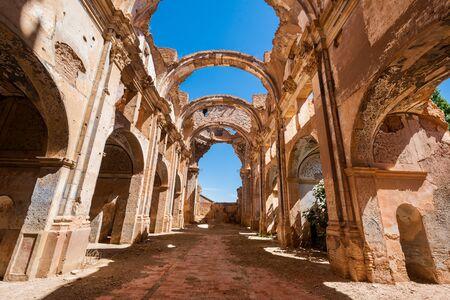 Ruines de Belchite, Espagne, ville d'Aragon qui a été complètement détruite pendant la guerre civile espagnole. Banque d'images