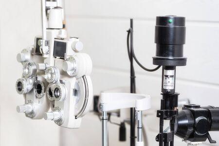 Phoropter, appareil de test ophtalmique.