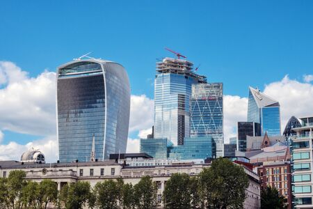 London cityscape. financial district skyline, known as bank.