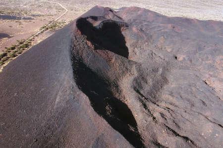 Aerial view of Volcanoes in Tenerife, Canary Islands, Spain.