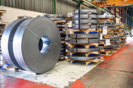 rolls of steel sheet in a plant, galvanized steel coil