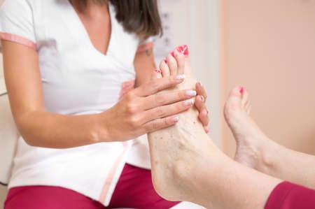 Peeling Feet Pedicure Treatment at cosmetic salon